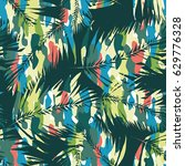 floral vector pattern tropical... | Shutterstock .eps vector #629776328