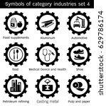symbols category industry of... | Shutterstock .eps vector #629786174