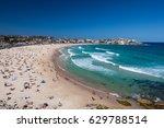 tourists enjoying the sun on... | Shutterstock . vector #629788514