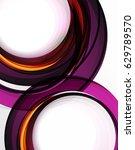 swirl and circles  futuristic... | Shutterstock .eps vector #629789570