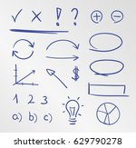 business sketches doodle drawn... | Shutterstock .eps vector #629790278