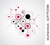 bauhaus retro wallpaper  art... | Shutterstock .eps vector #629792588