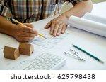hands of engineer working on