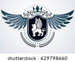 vintage heraldry design... | Shutterstock .eps vector #629798660