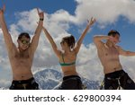 2014 07 mount elbrus  russia ... | Shutterstock . vector #629800394