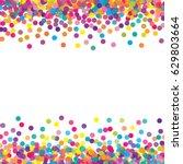 multicolored paper confetti on... | Shutterstock .eps vector #629803664
