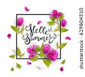 Hello Summer. Lettering. 3d....