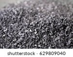 pile of carbon charcoal for... | Shutterstock . vector #629809040