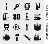 industry icon. set of 16... | Shutterstock .eps vector #629815148