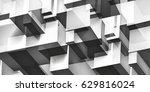 volume geometric glass... | Shutterstock .eps vector #629816024