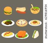 food set 1 | Shutterstock .eps vector #629816954