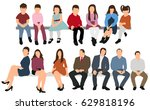 collection people sit  men and ... | Shutterstock .eps vector #629818196