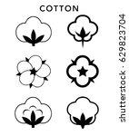 vector cotton icon logo set on... | Shutterstock .eps vector #629823704