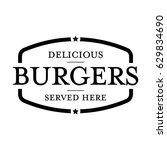 burger vintage stamp logo | Shutterstock .eps vector #629834690