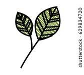 leaf natural ecology | Shutterstock .eps vector #629834720
