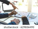 business team meeting working... | Shutterstock . vector #629836490