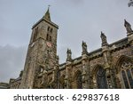 old church and tower under... | Shutterstock . vector #629837618