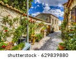 colorful streets hdr view in... | Shutterstock . vector #629839880