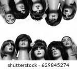 Group Of Female Mannequin Head...