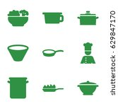 soup icons set. set of 9 soup... | Shutterstock .eps vector #629847170