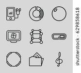 3d icons set. set of 9 3d... | Shutterstock .eps vector #629858618