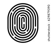 fingerprint linear icon.... | Shutterstock .eps vector #629879390