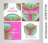 vintage set decorative elements.... | Shutterstock .eps vector #629879744