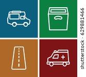transport icons set. set of 4... | Shutterstock .eps vector #629881466