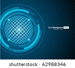 abstract technology wire sphere ... | Shutterstock .eps vector #62988346