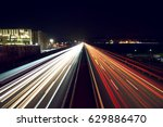 Light Trails On Highway With A...