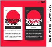 scratch here to win card design | Shutterstock .eps vector #629899358