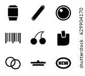 sticker icons set. set of 9...   Shutterstock .eps vector #629904170