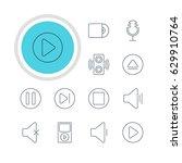 vector illustration of 12 music ... | Shutterstock .eps vector #629910764