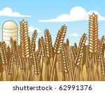 wheat field illustration   Shutterstock . vector #62991376