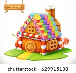 sweet house 3d vector icon | Shutterstock .eps vector #629915138