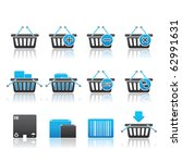 shopping baskets icon set 20  ... | Shutterstock .eps vector #62991631