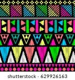 neon geo print   seamless... | Shutterstock .eps vector #629926163