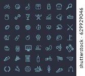 outline web icon set   sport... | Shutterstock .eps vector #629929046