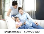 asian family  happy family... | Shutterstock . vector #629929430