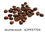 coffee bean on white background | Shutterstock . vector #629937704