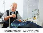 portrait of pleasing old man... | Shutterstock . vector #629944298