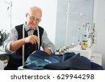 portrait of pleasing old man... | Shutterstock . vector #629944298