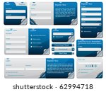 sticky web form template | Shutterstock .eps vector #62994718