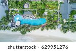 happy holiday in asia  swimming ... | Shutterstock . vector #629951276