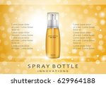 spray bottle isolated on yellow ... | Shutterstock .eps vector #629964188