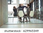 businesspeople giving a high...   Shutterstock . vector #629965349