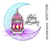 happy ramadan design for... | Shutterstock .eps vector #629977358