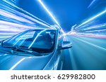 blurred urban look of the car... | Shutterstock . vector #629982800