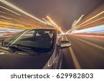 blurred urban look of the car... | Shutterstock . vector #629982803