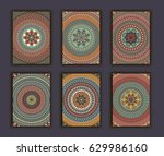 collection retro cards. ethnic...   Shutterstock .eps vector #629986160